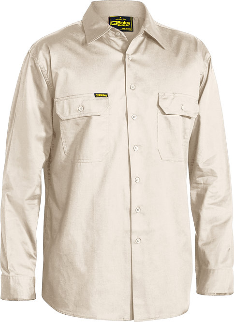 BISLEY COOL LIGHTWEIGHT DRILL SHIRT-LONG SLEEVE