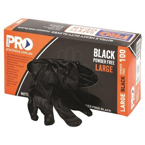 Pro Choice - Black Nitrile XL Heavy Duty Gloves
