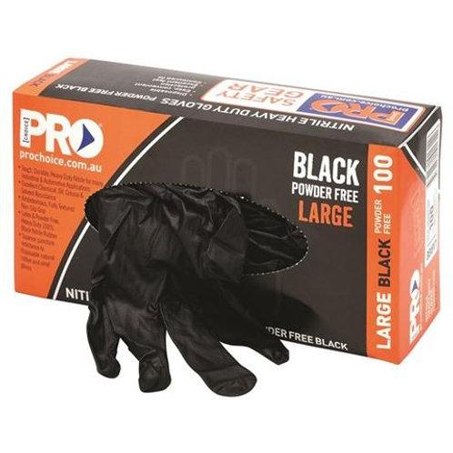 Pro Choice - Black Nitrile XL Heavy Duty Gloves