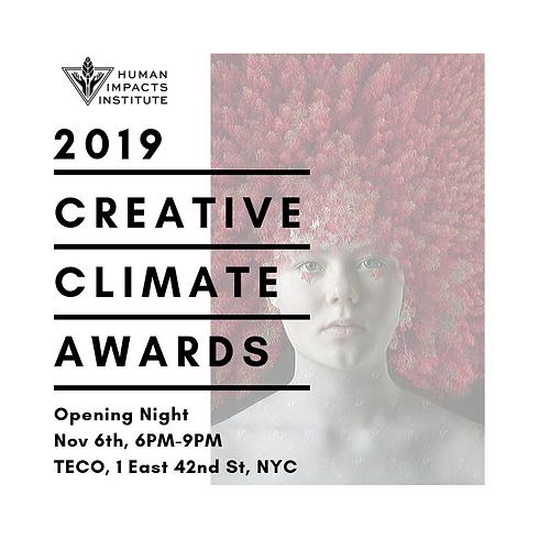 Creative Climate Awards 2019 NYC
