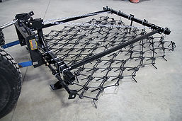 Three point MaxiLift chain harrow is quick hitch ready