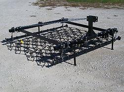Three point Standard chain harrow as a landscaping rake