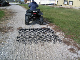EconoDrag ATV Harrow grooming gravel