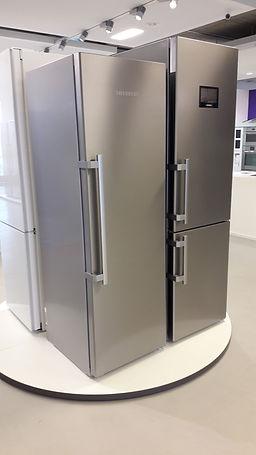 Inox Design Kühlschrank Tiefkühler Stangengriff