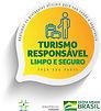 Selo turismo responsavel limpo e seguro.