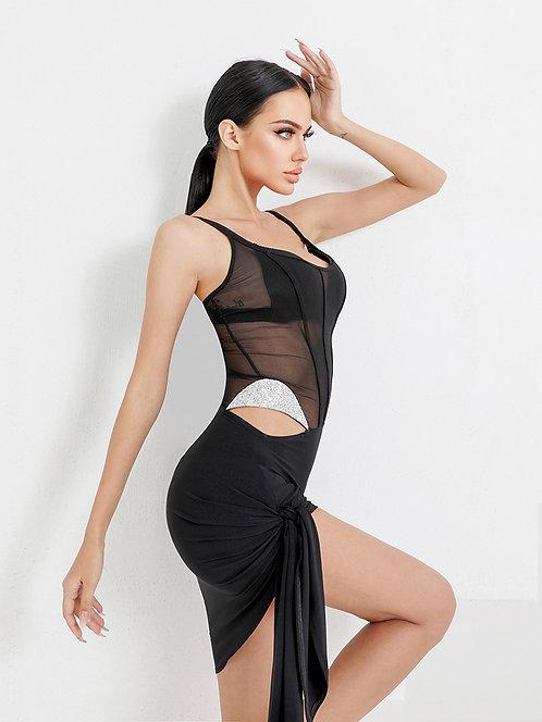 「Diamante Mini Dress」 ラテンワンピース【ZYM2107】