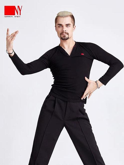NY製V字ラテンシャツ(長袖)【 211010T】
