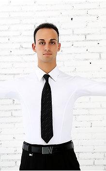 NY製ダンス用ストレッチワイシャツ(白)【NY16610】