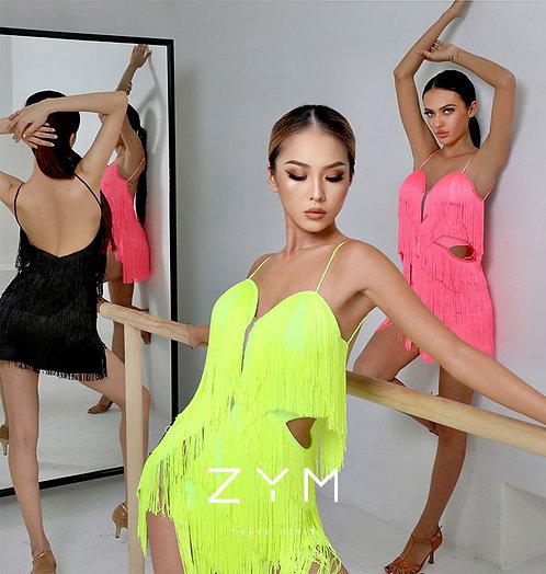 「Body Twist」  フリンジワンピース【ZYM2118】