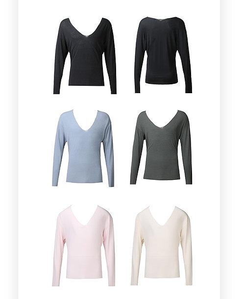 セール品「Easy Look Deep V Shirt」ZYM製ラテンシャツ【 MS19601】