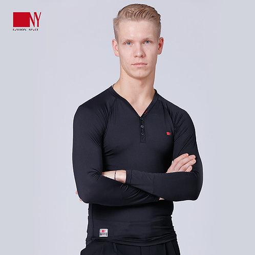NY製ダンス用V字コンプレッションシャツ(長袖)【NY16319】