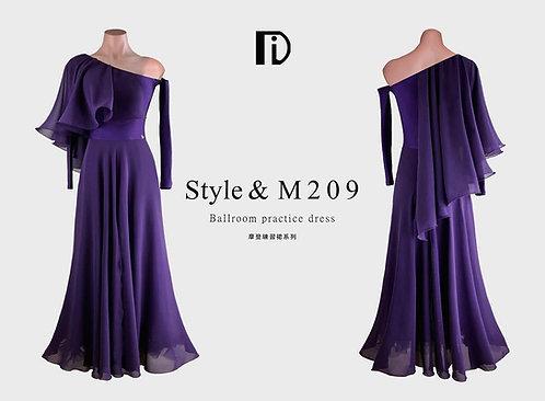 【TID M209D】ボールルームワンピース(深紫)