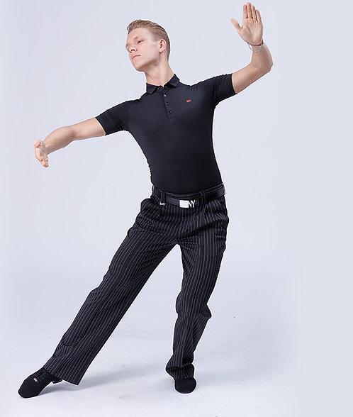 NY製ダンス用ストレッチポロシャツ【NY186971】