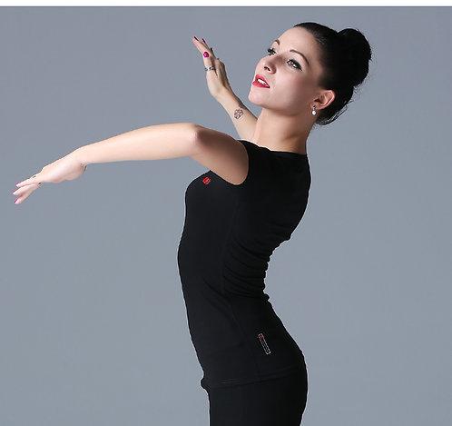 ダンス用ストレッチV字Tシャツ【NY16602】