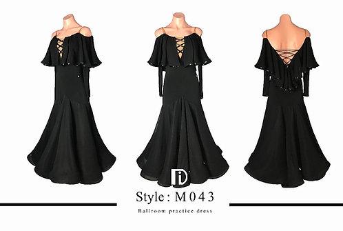 【TID M043D】ボールルームワンピース(黒)