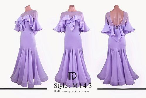 【TID M143】ボールルームワンピース(薄紫)