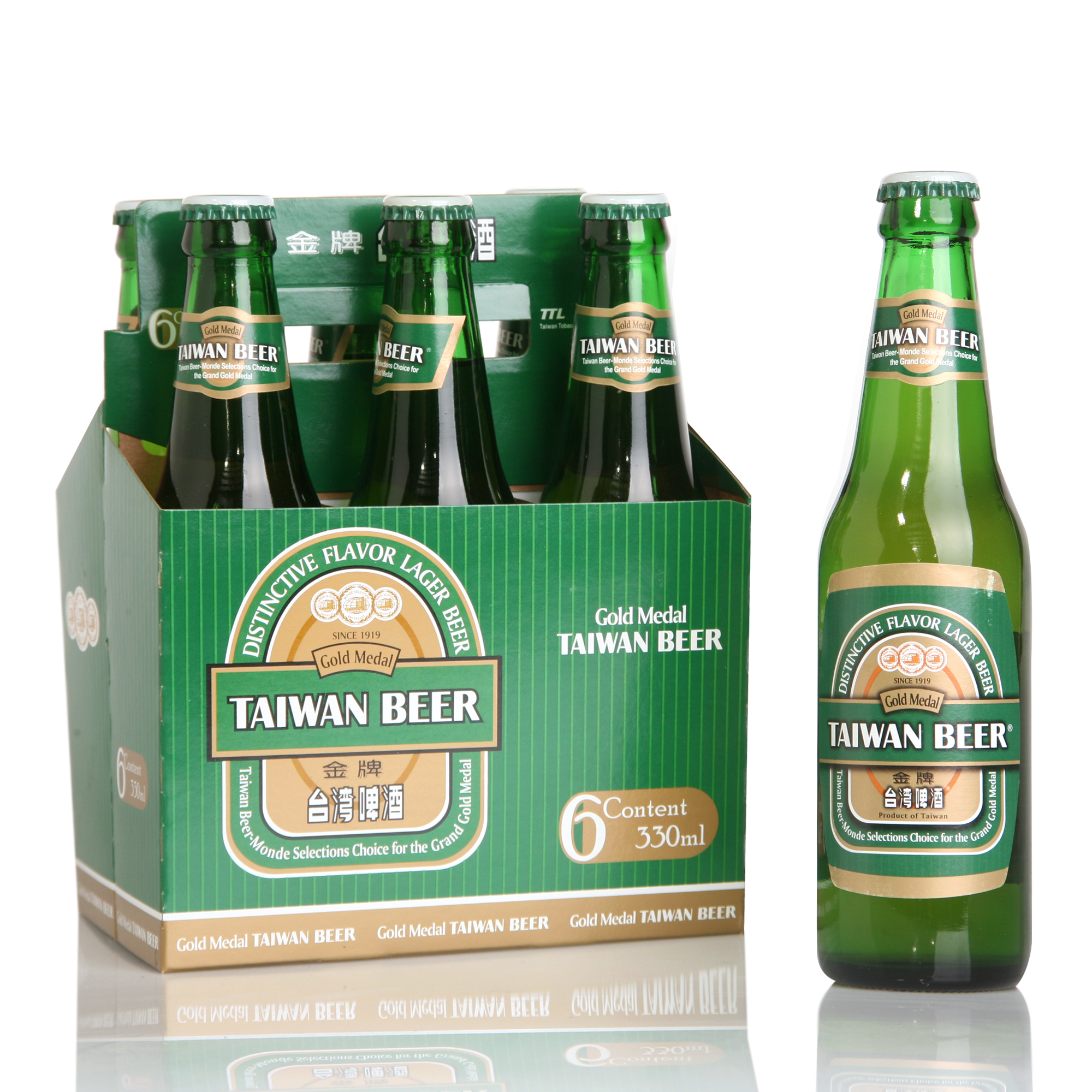Gold Medal Beer-6 pack bottle