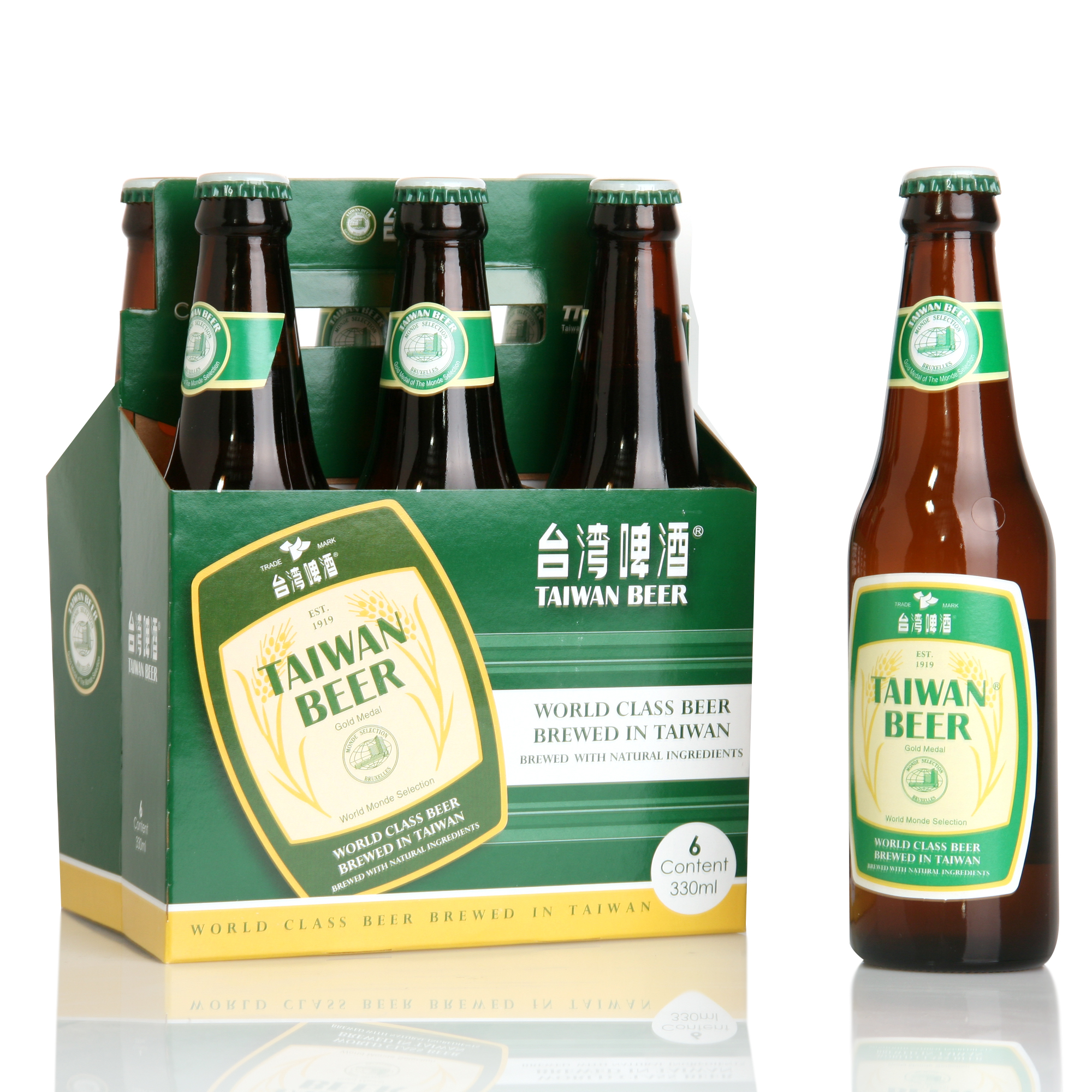Taiwan Beer-6 pack bottle