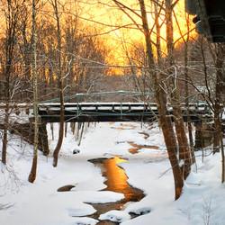 Winter Sunset, Nonnawaug River