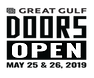 Doors Open Logo in black and white