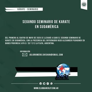 Karate | Segundo seminario de Karate en Sudamérica
