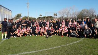 Fútbol | Los veteranos de Banco Provincia recibieron al plantel profesional de Estudiantes de La Pla