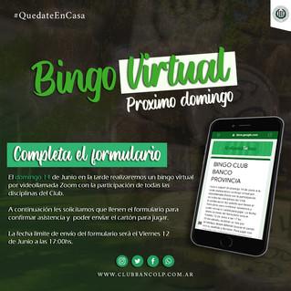 Bingo | Instructivo para participar en el Bingo