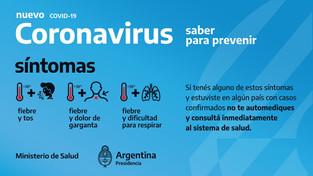 Coronavirus | Recomendaciones del Ministerio de Salud sobre el COVID-19