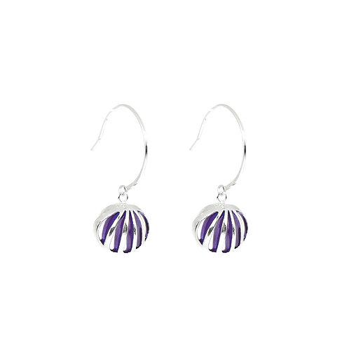 Entropic Hoop Earrings, Purple