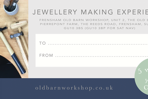 5 Weeks of Jewellery Classes - Gift Voucher