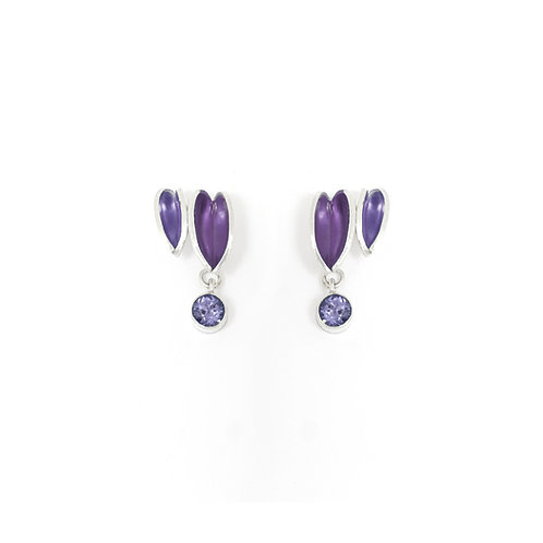 Reflect Interchangeable Cluster Studs, Iolite & Purple