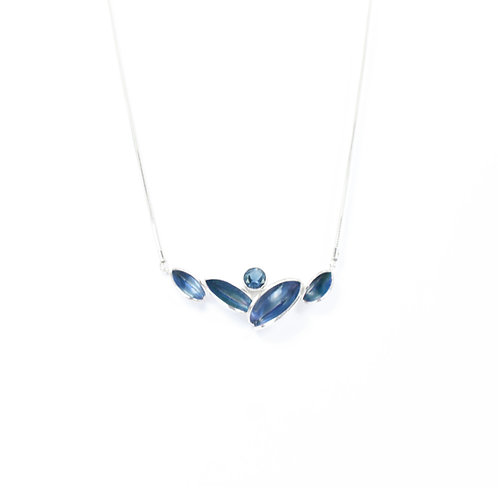 Reflect Necklet, London Blue & Topaz