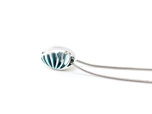 Entropic Pendant, Turquoise