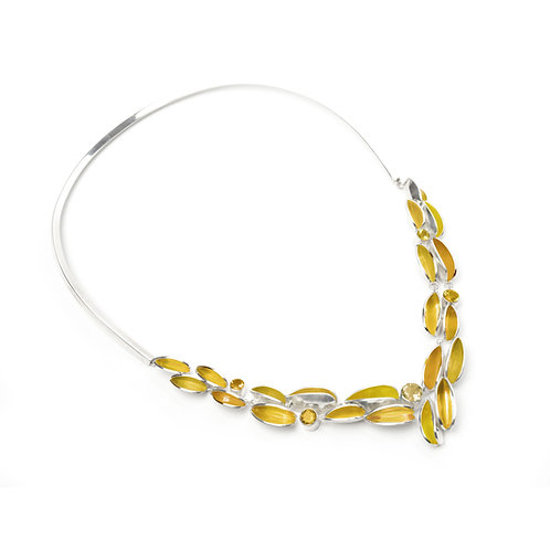 Reflect Neckpiece, Citrine & Ochre