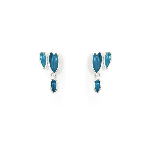 Reflect Interchangeable Cluster Studs, Topaz & London Blue