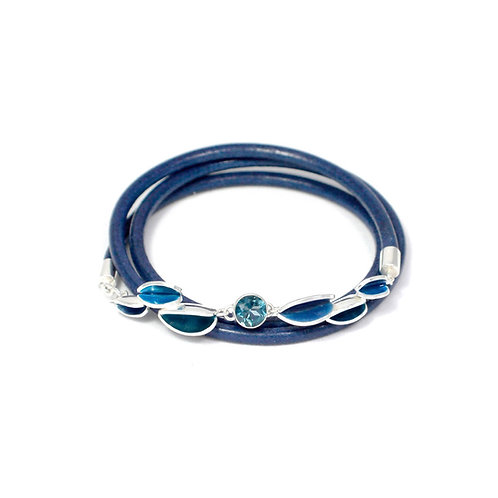 Reflect London Blue & Topaz Friendship Bracelet