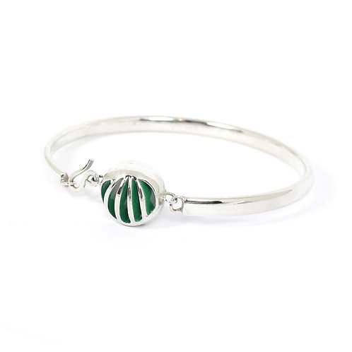Entropic Round Bangle, Green