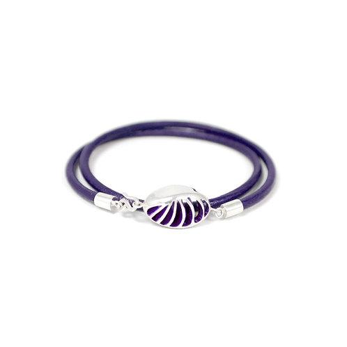 Entropic Oval Friendship Bracelet, Purple