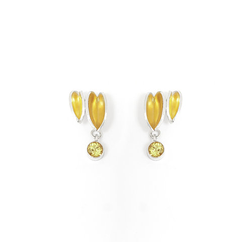 Reflect Interchangeable Cluster Studs, Citrine & Ochre