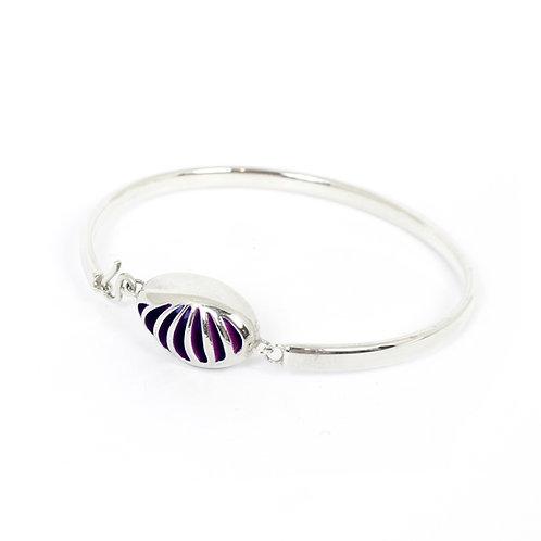 Entropic Oval Bangle, Purple