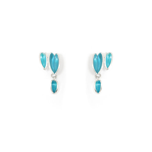 Reflect Interchangeable Cluster Studs, Topaz & Turquoise