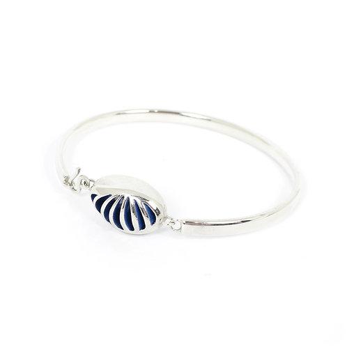 Entropic Oval Bangle, Blue