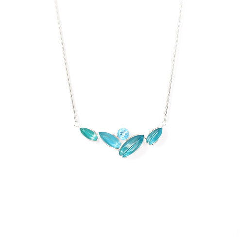 Reflect Necklet, Turquoise & Topaz