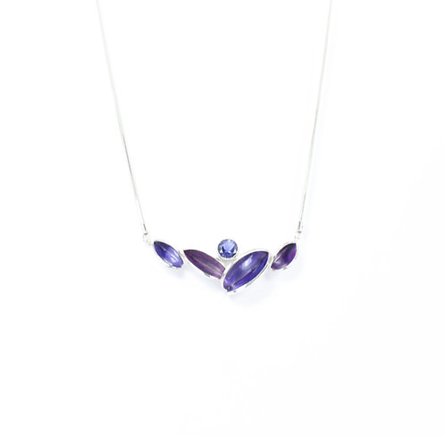 Reflect Necklet, Purple & Iolite