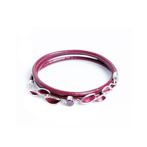 Reflect Magenta & Rhodolite Garnet Friendship Bracelet