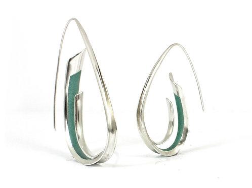 Synergy A-Symetric Earrings, Crushed Aventurine