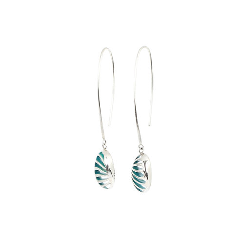 Entropic Oval Drop Earrings, Turquoise