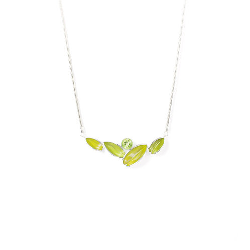 Reflect Necklet, Green & Peridot