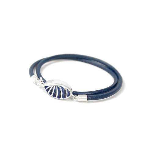 Entropic Oval Friendship Bracelet, Blue