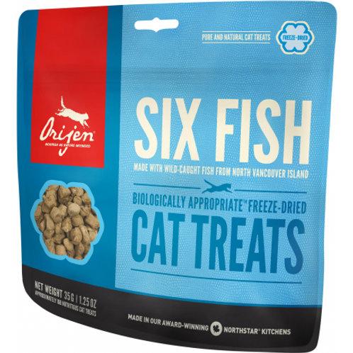 Gâteries Orijen Six Fish pour chats